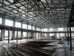 Здание из ЛСТК на стадии строительства